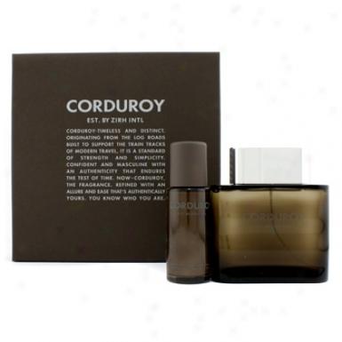 Zirh International Corduroy Coffret : Eau De Toilette Spray 125ml/4.2oz + Roll-on After Shave Balm 50ml/1.7oz 2pcs
