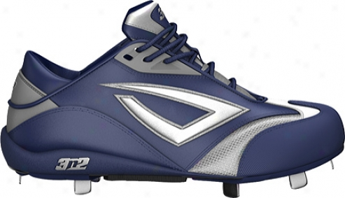 3n2 Accelerate Fastpitch Metal Cleat (women's) - Navy Blue/silver