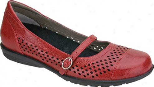 Aetrex Alana Mary Jane (women's) - Red Leather