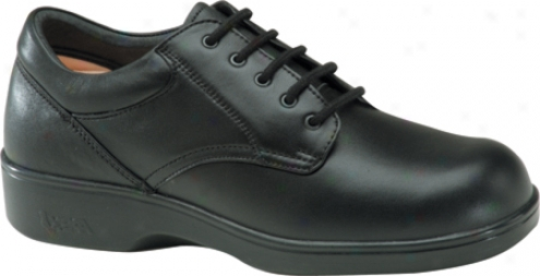 Aetrex Ambulator Conform Oxford (women's) - Black Smpoth Leather