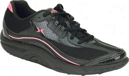 Aetrex Bodyworks Sport Lace (women's) - Black/coral Leather/mesh
