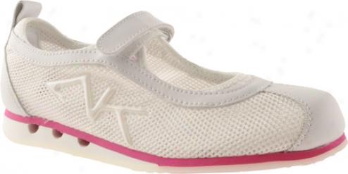 Ak Anne Klein Thaataway 2 (women's) - White/medium Pink Manufactured cloth