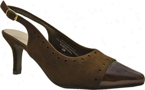 Annie Avant (women's) - Brown Velvet Suede/brown Patent