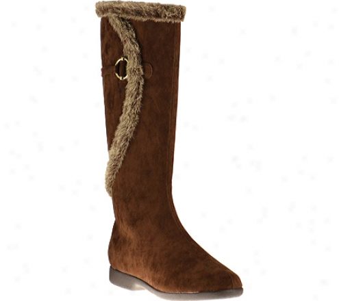Annie Classic Wide Calf (women's) - Brown Velvet Suede