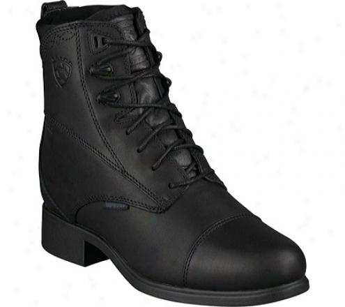 Ariat Bancroft Lace (women's) - Black Waterproof Full Grain Leather