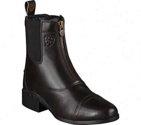 Ariat Heritage Iii Zip Paddock (women's) - Chocolate Updated Full Grain Leather