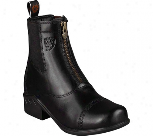 Ariat Heritage Rt Zip Paddock (women's) - Black Upgraded Full Grain Leather