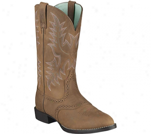 Ariat Heritage Stockman (wpmen's) - Driftwood Brown Loud Grain Leather