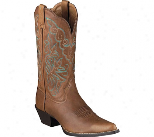 Ariat Heritage Western J Toe (women's) - Timber Full Grain Leather