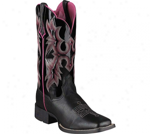 Ariat Tombstone (women's) - Black/black Patent Full Grain Leather
