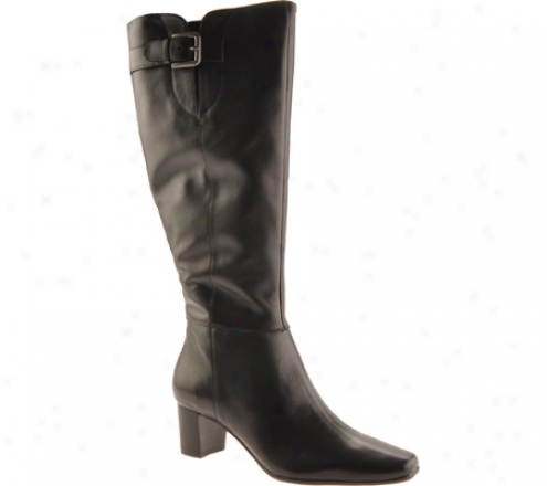 Bandolino Ariston Wide Shaft (women's) - Black Leather