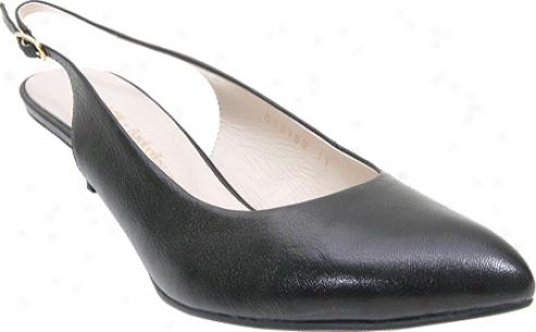 Barefoot Tess Slingback (women's) - Black Leather