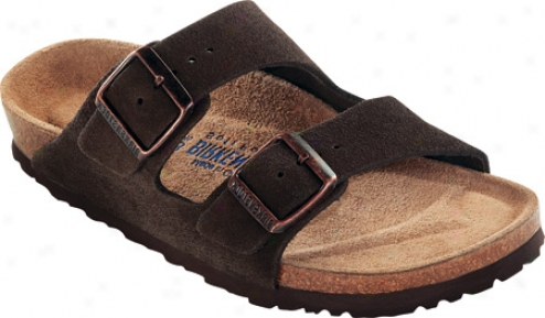 Birkenstock Arizona Suede With Soft Foptbed - Mocha Suede With Soft Footbed