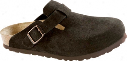 Birkenstock Boston Mocha Sued3 Soft Footbed