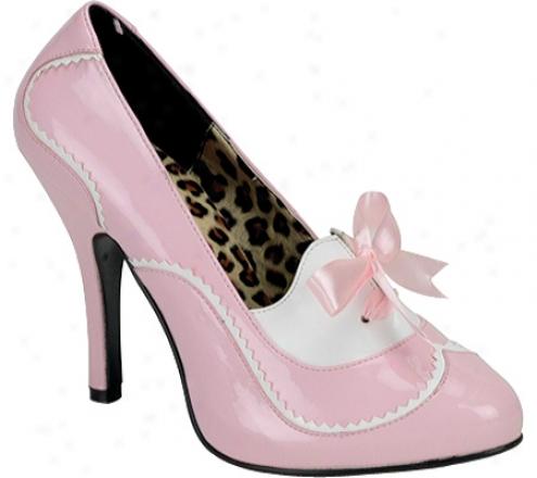 Bordello Tempt 02 (women's) - Baby Pink/white Patent
