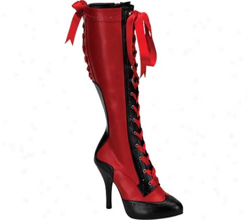 Bordello Tempt 126 (women's) - Red/black Pu