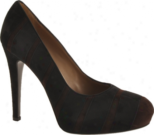 Bruno Magli Obelia (women's) - Black/dark Brown Suede