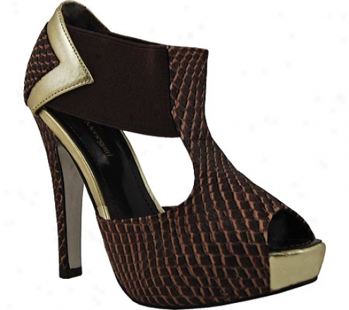 Bruno Menegatti 1291839 (women's) - Coffee/gold