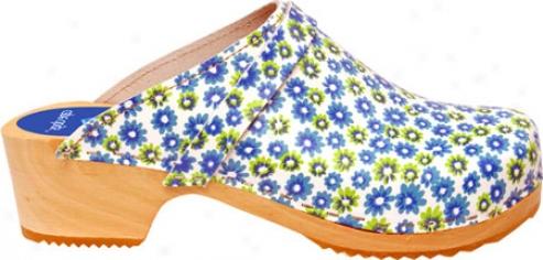 Cape Clogs Twin Flower - Blue/green