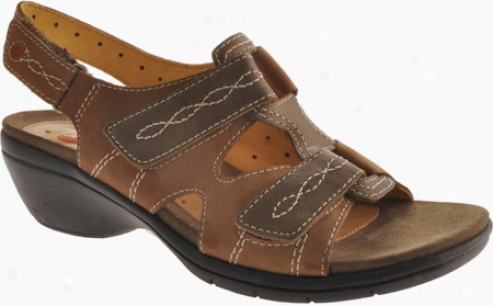 Clarks Un.galley (women's) - Smokey Brown Nubuck/antique Brass