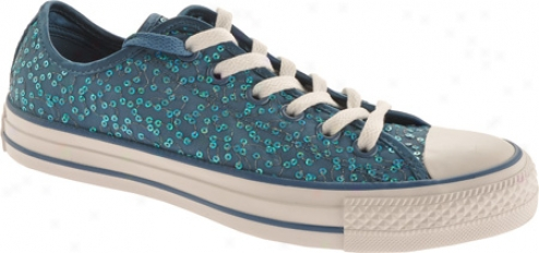 Converse Chuck Taylor All Star Specialty Ox Sequin (women's) - Blue Knife