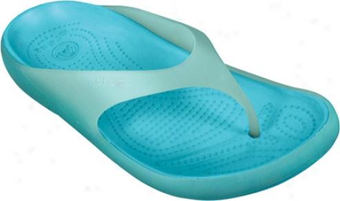 Crocs Carllie Flip (women's) - Sea Foam/aqua