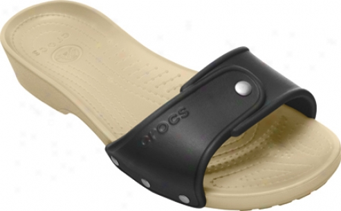 Crocs Crocs Cobbler Slide (women's) - Black/chai