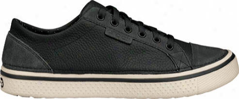 Crocs Hover Lace Up Leather (women's) - Black/stucco