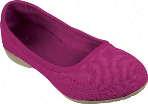 Crocs Leigh Flat (women's) - Berry/natural