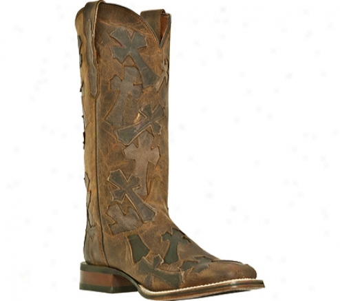 Dan Place Boots Four Corners Dp2880 (women's) - Tan Madcat Leather/cross Ovedlays