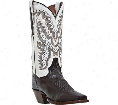 """dan Post Boots Scottsdale 12"""" Dp3502 (women's) - Chocolate/white Leather"""