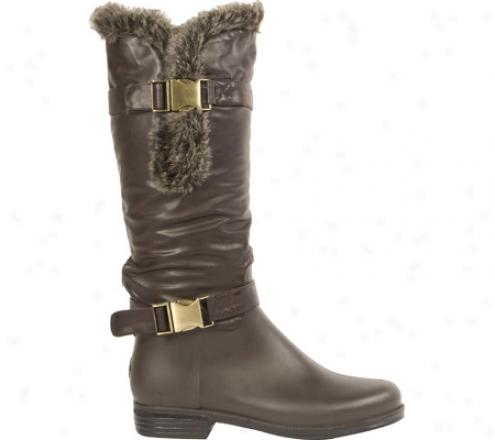 Dav English Fur Cuff Solid (women's) - Dark Brown Pvc