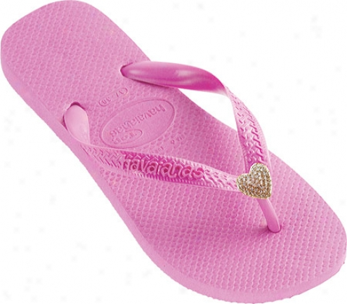 Dini's Los Angeles Crystal Hearts (women's) - Light Rose