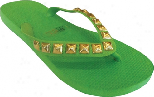 Dini's Los Angeles Pyramid Studs (women's) - Spring Green