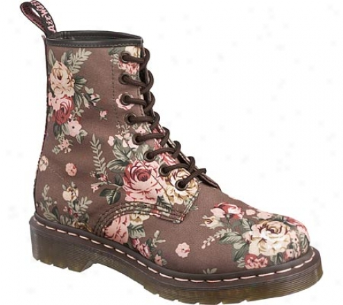 Dr. Martens 1460 W 8 Eye Boot Victorian Flowers (women's) - Taupe Victorian Flowers