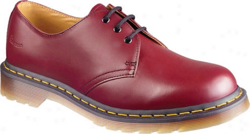 Dr. Martens Back To Baasics 1461 3 Eye Gibson (women's) - Cherry Red Smooth