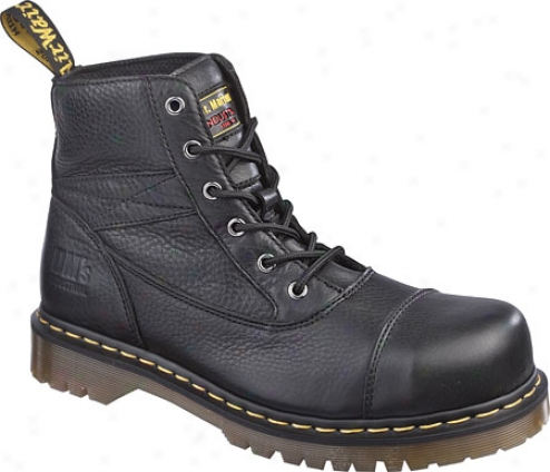 Dr. Martens Hatton St 6 Eye Cap Toe Boot - Black Industrial Grizzly
