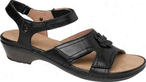 Drew Petal (women's) - Black Full Grain Leather