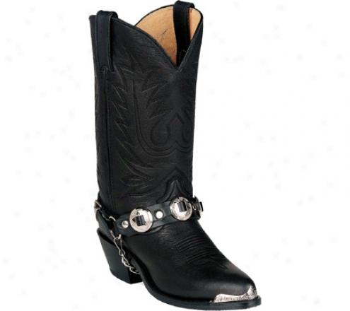 Durango Boot Rd560 11 (women's) - Black Leather W/ Concho Strap