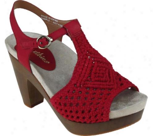 Esrthies Amalfi (women's) - Bright Red Crochet