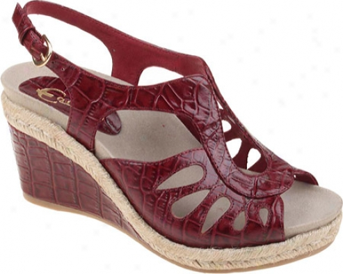 Earthies Bali (women's) - Rosso Croco Leather