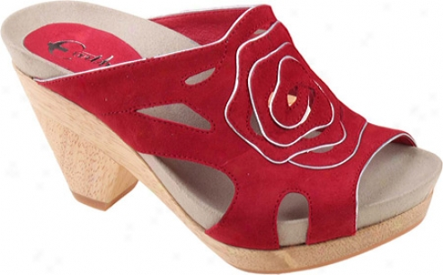 Earthies Tropez( women's) - Bright Red Kid Suede