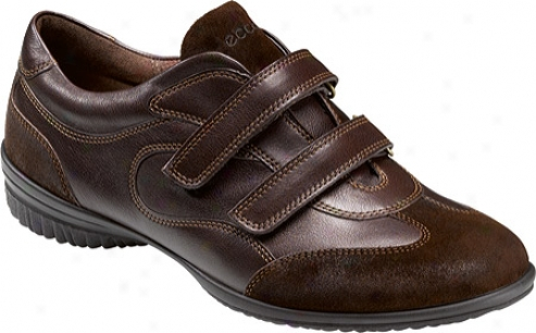 Ecco Cloud Ii 2 Strap (women's) - Coffee/coffee Cayman L3ather/venus Leather/suede