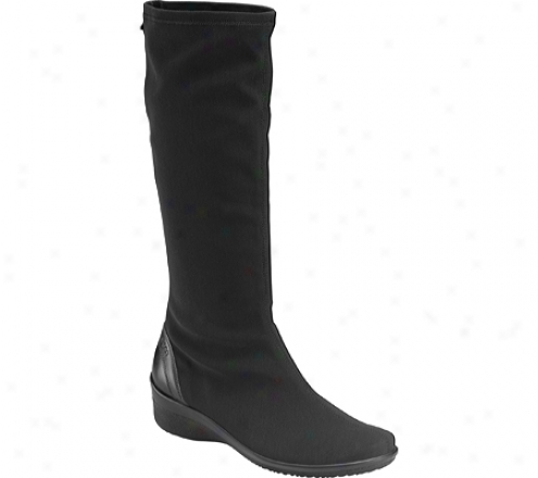 Ecco Corse Gtx Stretch Tall Boot (women's) - Black/black Stretch/luxe