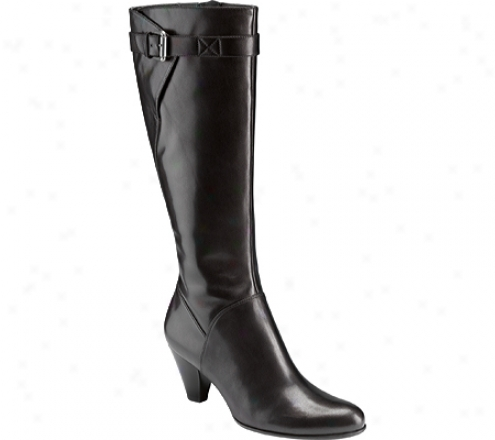 Ecco Hope Tall Boot 65 Mm (women's) - Black Shiny Riviera Leather