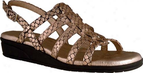 Elites Venus (women's) - Gold Snake Print Leather
