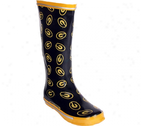 Fanshoes Grambling State University Rubber Boot (women's) - Black