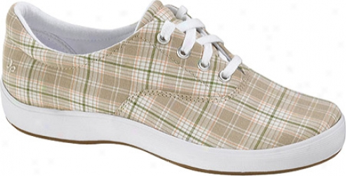 Grasshoppers Janey Woven Plaid (women's) - Stone Woven