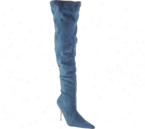 Higheest Heel Full (wom3n's) - Blue Micro Suede