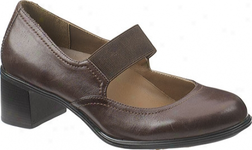 Hush Puppies Cherise (women's) - Dark Brown Leather